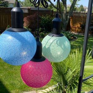 NWT LED string lights wrapped in colourful ball